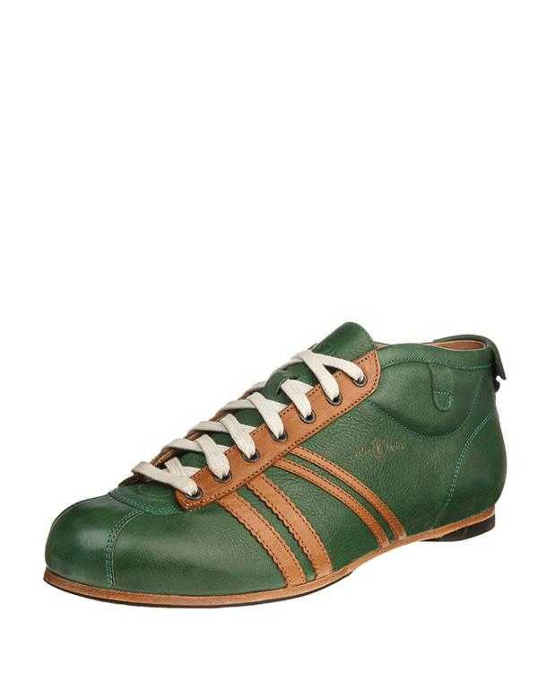 ZEHA BERLIN Carl Häßner Libero calf leather Unisex green / cognac